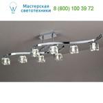 CUADRAX CHROME OPTICAL GLASS Mantra 0961, люстра потолочная