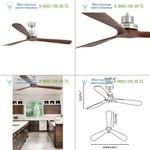 33464 Faro LANTAU-G Matt nickel ceiling fan, люстра-вентилятор
