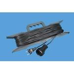 Удлинитель на рамке УБ-03 10 метров без заземления ПВС 2*0,75, 1 розетка