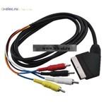 Аудио/видео шнуры SCART-4RCAm D 7mm 1.5m (от 100 шт.)