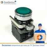 XB4BW33B5 кнопка диаметром 22 мм, 24 Вольта, зеленая, с возвратом, с подсветкой, Schneider Electric