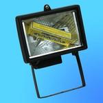 Прожектор галогенный Camelion 0101 FL-150W черный, в комплекте с лампой, IP 54, 220-240V