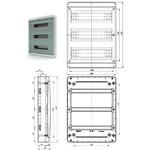 BNZ40-54-1  - щит навесной пластиковый на 54 модуля IP40 (ТЕКФОР) от 1.448 руб. до 1.241 руб