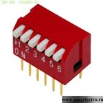 Dip переключатели DP-06 (SWD3-6) (от 200 шт.)