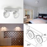 Светильник Rand Reo 2 CRI 90 Wall/Ceiling Spot DeltaLight, LED 2x7W