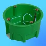 Коробка установочная КУ1203 для полых стен, пласт. лапки 68х40 мм(HEGEL)