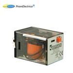 RE1P11AC012 Реле на 11 выводов, напряжение 12 Вольт АС (3 переключающих контакта), EMAS