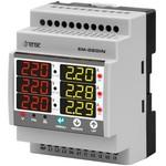 Мультиметр модульный 3-х фазный электронный вольтметр + амперметр + частотомер цифровой на DIN дин рейку рельсу