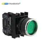 B200FY Кнопка с фиксацией зеленая (контакт 1НЗ)  EMAS
