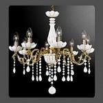 La Lampada L 372/8.26 Ceramica Gold White 372, Люстра