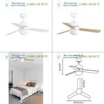 33606 Faro CEBU White ceiling fan, люстра-вентилятор