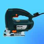 """Пила лобзиковая """"Bort"""" BPS-750  (750Вт 500-3000об/мин max 110мм) + пилка, доп. комплект щеток"""