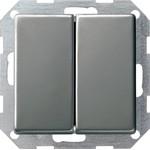 286020 E22 Двухклавишный выключатель с самовозвратом 10 A 250 В с вертикально расположенными клавишами в сборе
