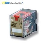 Съемное реле 10А, 2 перек конт, без диода, LED, 110-120В~, блок тест кн - MY2IN_110\120AC_(S) Omron