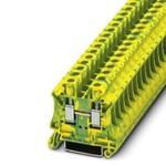 Проходная заземляющая клемма UT 6-PE для дин рейки 35мм (Phoenix contact).