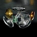 366/6PF CRISTALLO,VERDE,GIALLO,AMBRA Moira IDL, Потолочный светильник