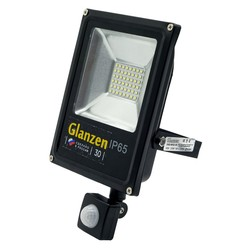 Светодиодный прожектор c датчиком движения GLANZEN FAD-0012-30