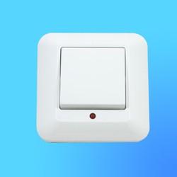 """Выключатель 1 СП ВС1У-115, белый, со световым индикатором, 10 """"А"""", """"Прима"""" (Wessen)"""