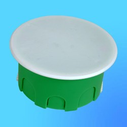 Коробка разветвит. КР1202 для полых стен кругл. с крышкой 80х45 мм пласт.лапки(HEGEL)