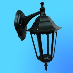 Светильник садово-парковый 4302 шестигр. конструкция, 100Вт Е27 IP33 410х260 (металл+стекло) черный