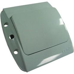 """Выключатель 1 СП """"Zirve"""" белый, без бок.декор.вставок 5010200200 (El-Bi)"""