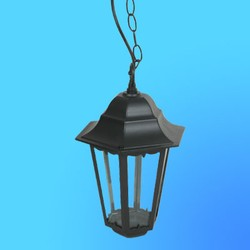 Светильник садово-парковый 4305 шестигр. конструкция, 100Вт Е27 IP33 1025х225 (металл+стекло) черный
