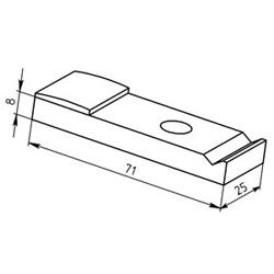 Контакт контактора КПД–114 подвижный