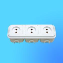 Розетка 3 СП РС16-018 АБС, с монтажной коробкой (Пинск)