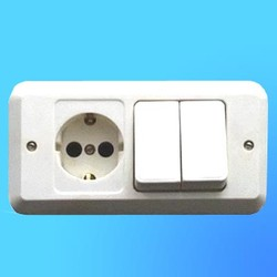 Блок 2В-РЦ-202/204 СП (2-кл.выкл.+евророзетка) (Мин)