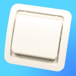"""Выключатель проходной 1 СП """"Мимоза"""" крем, без декор.вставки  32005 (Makel)"""