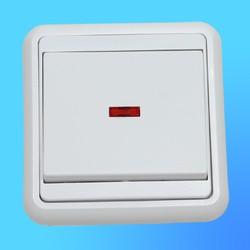"""Выключатель 1 СП С110-052 АБС """"Бэлла"""" 10А, со свет.индикатором (Кунцево Электро)"""