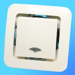 """Выключатель 1 СП """"Lillium"""" крем, без декор.вставки со световым индикатором 71221 (Makel)"""