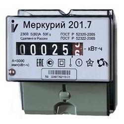Меркурий 201.7 10-60А; 220В (цена от 555 руб. до 512 руб.)