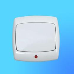 """Выключатель 1 СП С16-066 белый, со световым индикатором, """"Рондо"""" (Wessen)"""