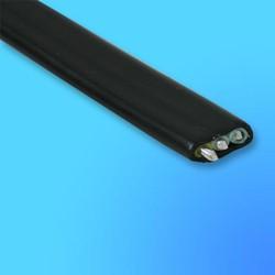Кабель АВВГ 3*2,5 силовой, чёрный, с алюминиевой жилой, для стационарной прокладки