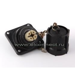 Розетка панельная РП25-4В1к