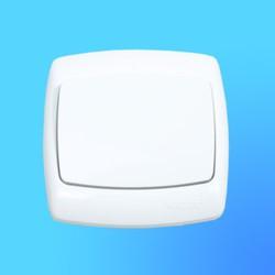 """Выключатель 1 СП С16-067 белый, """"Рондо"""" (Wessen)"""