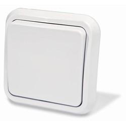 Выключатель одноклавишный скрытой установки, цвет белый