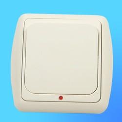 Выключатель 1 СП С16-003 АБС беж./беж.рамка со световым индикатором (Ростов)