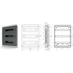 BNK40-54-1  - щит навесной пластиковый на 54 модуля IP40 (ТЕКФОР)  от 1.448 руб. до 1.241 руб