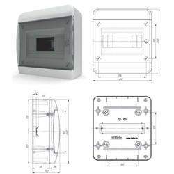 BNK40-08-1  - щит навесной пластиковый на 8 модулей IP40 (ТЕКФОР) от 452руб. до 388 руб