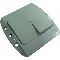 """Выключатель 2 СП """"Zirve"""" белый, без бок.декор.вставок 5010200202 (El-Bi)"""