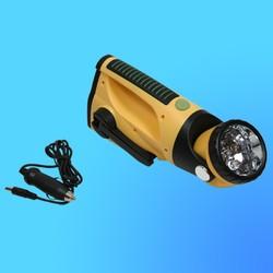 """Фонарь """"Focusray-482"""" электродинамический, аккумулятор, 5 светодиодов, 2 режима, прикуриватель"""