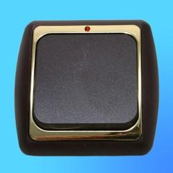 Выключатель 1 СП С16-003 АБС метал.,бордо/зол. со световым индикаторм (Ростов)