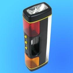 """Фонарь """"Focusray-420"""" многофункциональный с люмин. лампой (батареи, авт. прикуриватель)"""