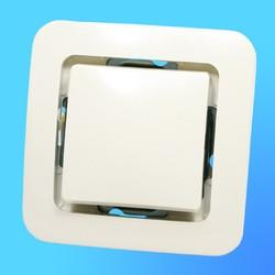 """Выключатель 1 СП """"Lillium"""" крем, без декор.вставки  71201 (Makel)"""