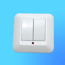 """Выключатель 2 СП ВС5У-217 белый, со световым индикатором, 10 """"А"""", """"Прима"""" (Wessen)"""