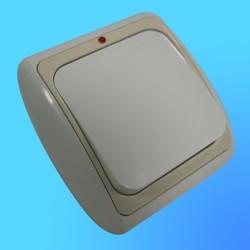Выключатель 1 СП С16-003 АБС бел./беж. рамка со световым индикатором (Ростов)