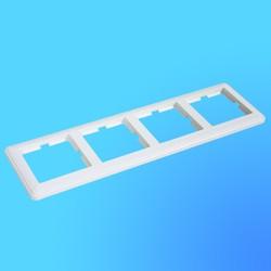 """Рамка универсальная для 4-х местных блоков КД-4-18 белая, """"Вессен59"""" (Wessen)"""