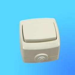 """Выключатель 1 ОП ВА66-102Б, брызгозащищённый, слоновая кость, """"Рондо"""" (Wessen)"""